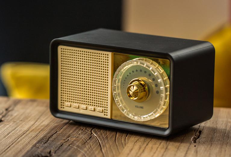 OKA Retro Wireless Bluetooth Speaker with FM