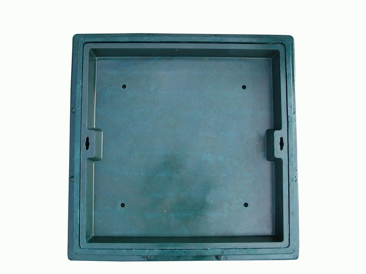 Customized smc bmc 70070080mm composite square manhole cover