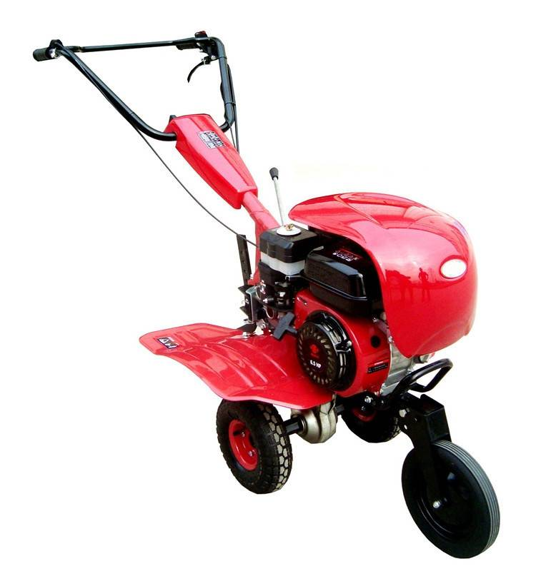 SJ500 Gasoline Tiller with 6.5hp and new cover with high quality