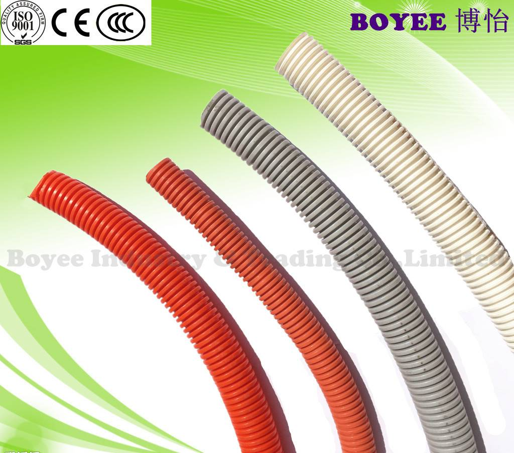 PVC Flexible corrugated Conduit / Electrical Flexible Pipe