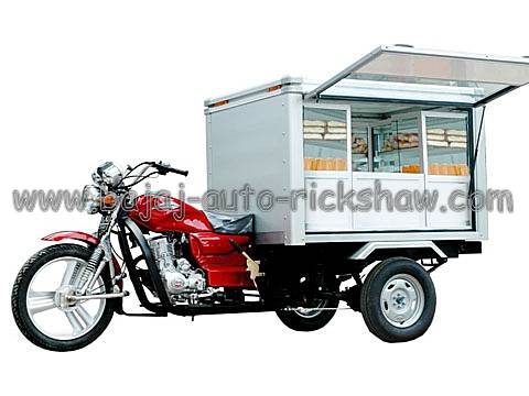 Bajaj Auto Rickshaw mobile catering shop 3 wheelers motor tricycle BA150ZH-M