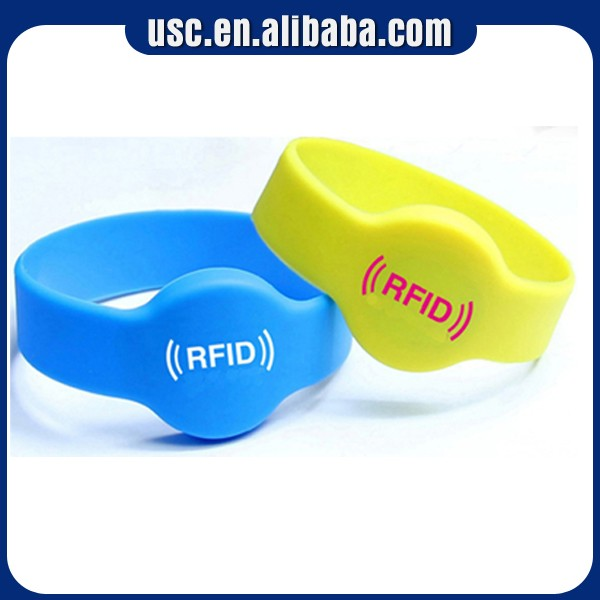 high quality RFID silicone wristband fabric wristband with Manufacturer lowest price