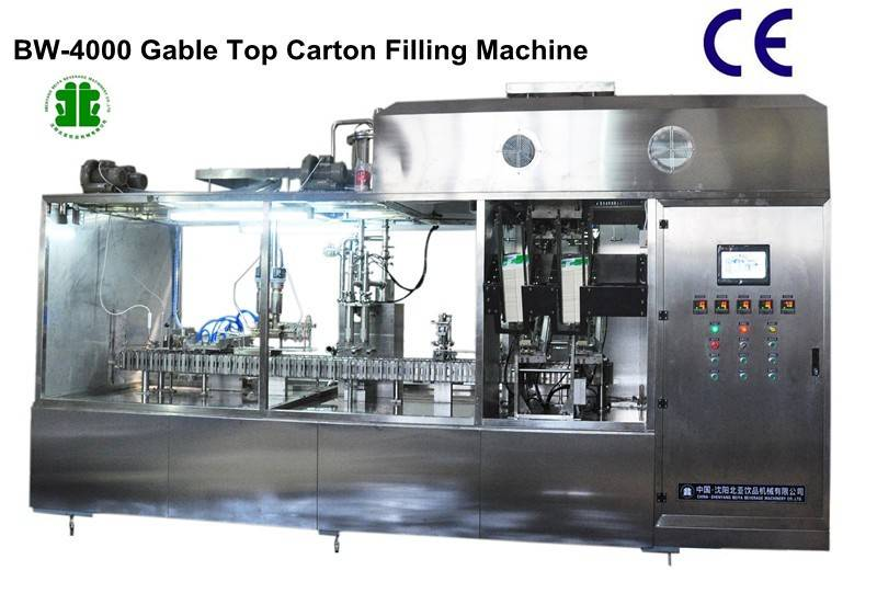 Fully Automatic Gable-Top Carton Filling Machinery (BW-4000)
