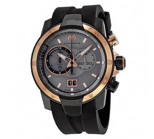 Discount mens watches Technomarine UF6 Yachting Chronograph Grey Dial Rose Gold