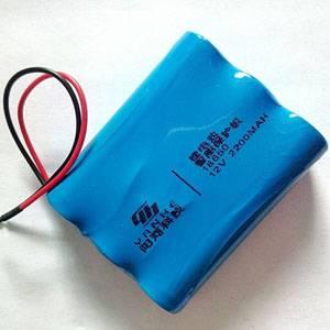 18650 12V 2200MAH/2400MAH/2600MAH 3AA Lithium Rechargeable Battery Pack