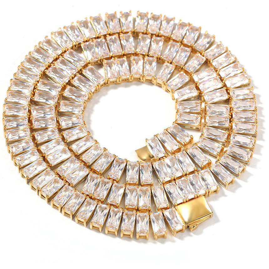 Mens Rose Gold Plated Full Iced CZ Miami Cuban Link Chain Bracelet Necklace