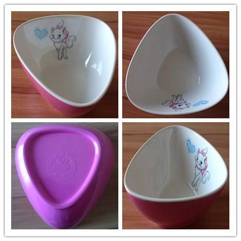 Applique melamine bowls
