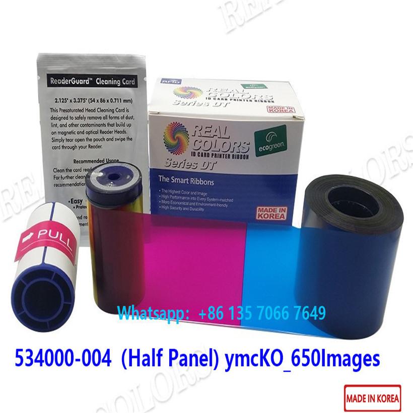 Datacard Ribbon 534000-004 ymcKT half panel Datacard SD260 SD360 Card Printer