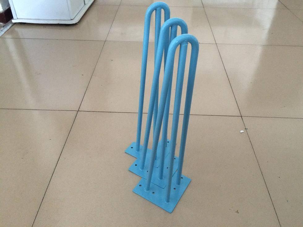 blue color, hairpin legs, hairpinlegs, furniture metal legs,
