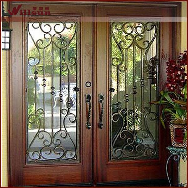 lowes wrought iron security door