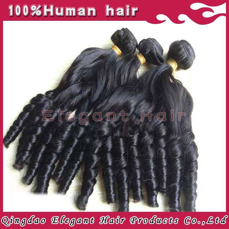 New style natural black baby curl brazilian virgin hair