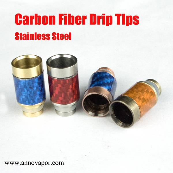 Carbon Fiber 510 Drip Tips Flat Wide Bore Drip Tip 510 Mouthpieces for RDA Atomizer Carbon Firber
