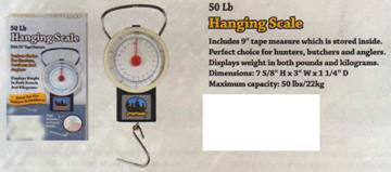50Lbs hanging scale