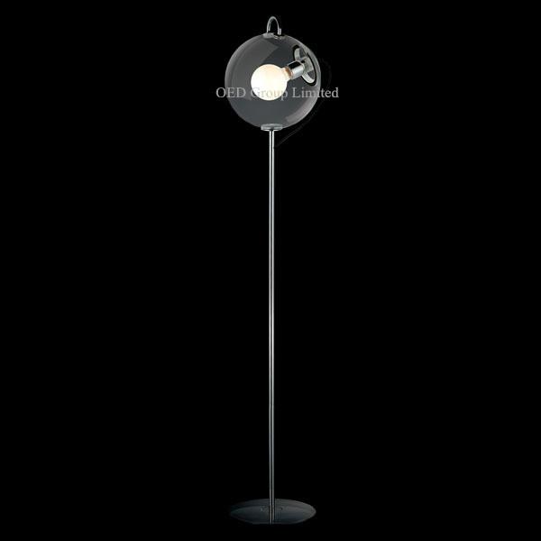 European Classic Soap Bubble Floor Lightings Simple Modern Transparent Glass Lamps