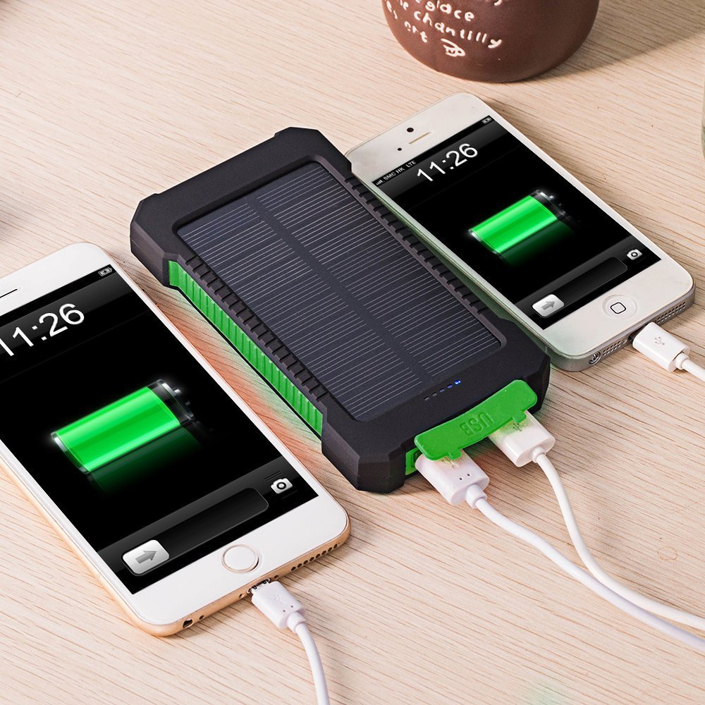 Outdoor emergency solar power bank charger