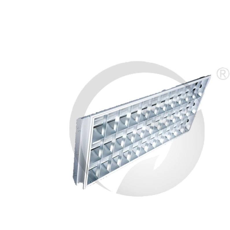 T8 Recess Grid Lighting fixture Lamp Plate