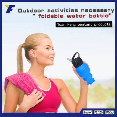 Sofe Rubber Sport Water Bottle BPA Free Collapsible Water Bottle