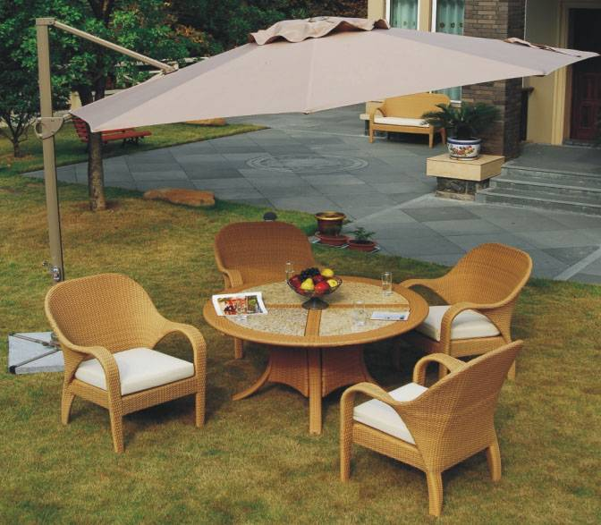 Cantilever Aluminum Parasol (no side fabric)