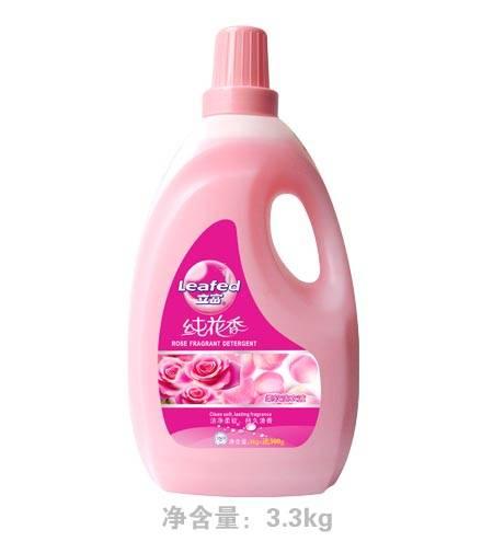 Leafed detergent liquid , laundry liquid 3.3kg per bottle