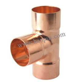 Copper Tee for refrigeration and air condition (ACR copper fitting, plumbing fitting)