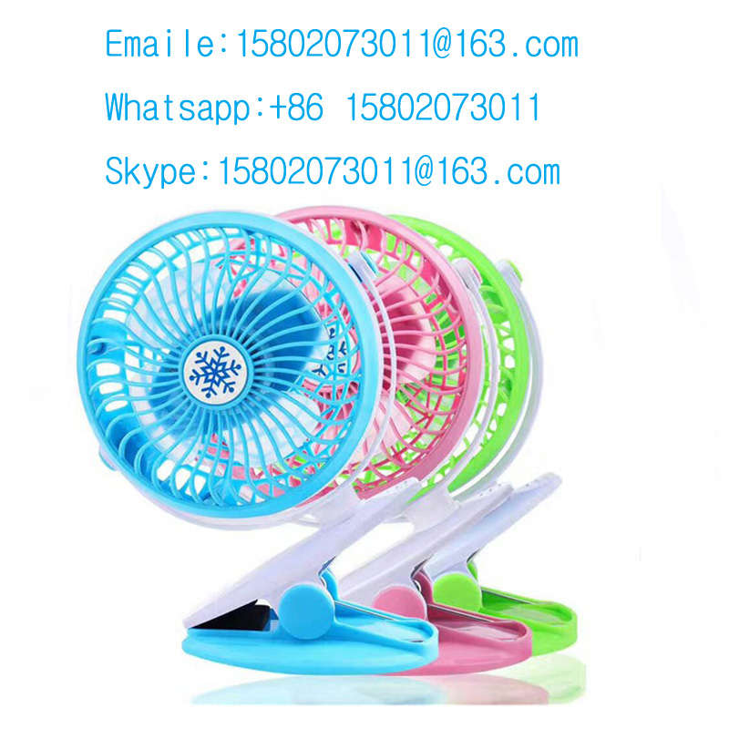 New 360 Degree Rotation Portable Rechargeable Mini Clip Fan