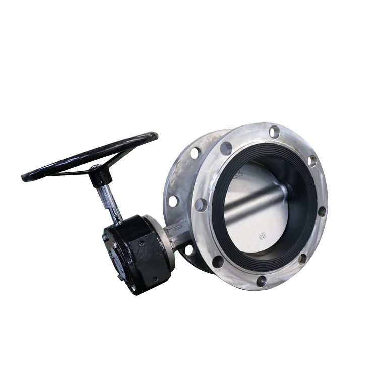 Stainless steel flanged butterfly valve