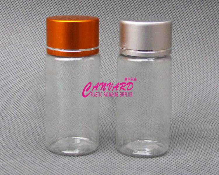 Small Clear Plastic Bottles 20ml With Metal Plastic Cap