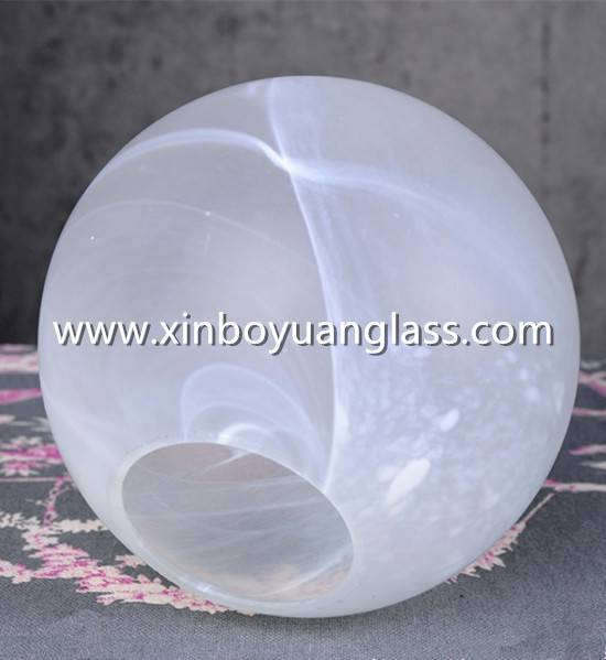 OPAL WHITE BALL ART NOUVEAU ART DECO LAMP SHADE GLASS BALL