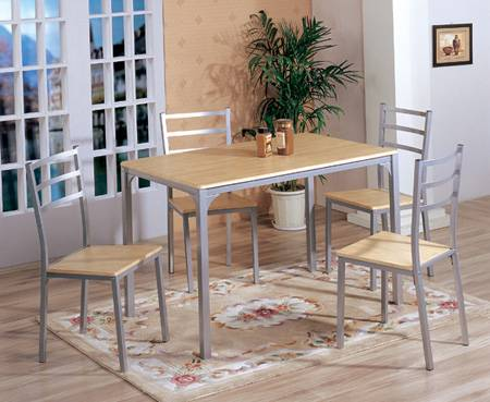 Best Selling MDF And Aluminium Table /chair Set Model2296