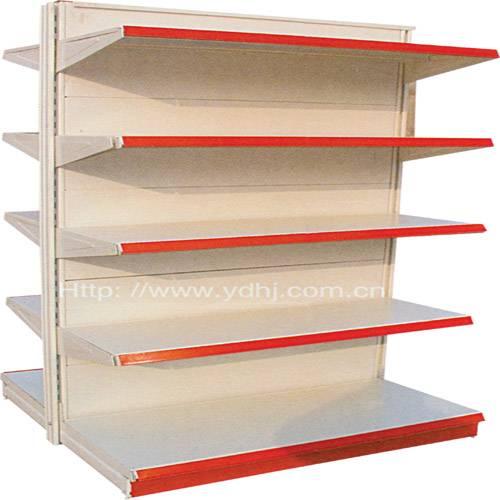 double-side supermarket shelf