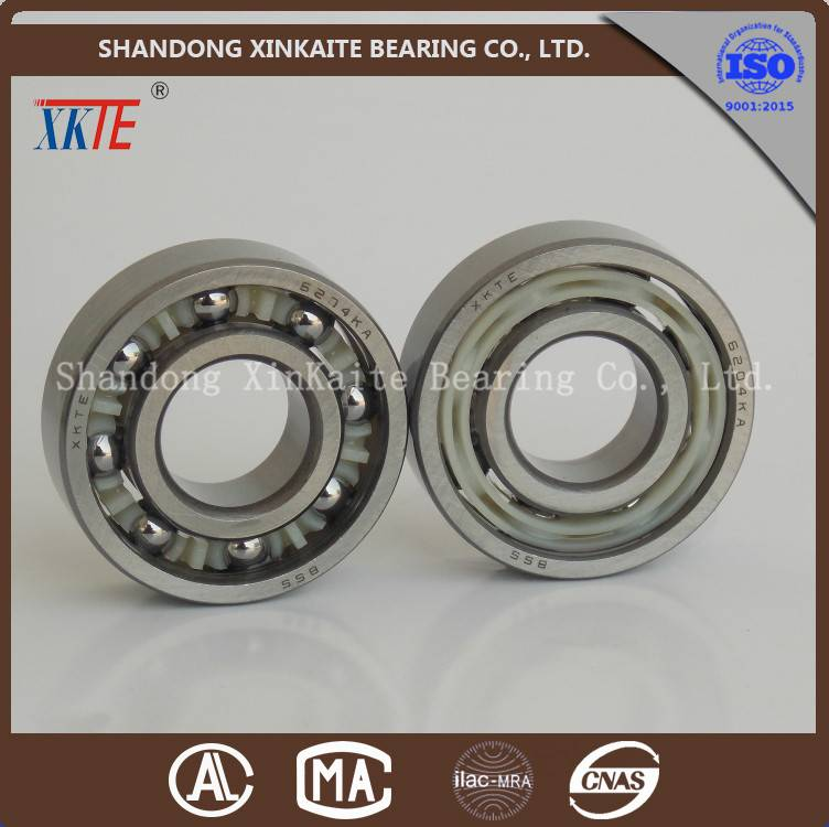 XKTE brand nylon retainer 6204TN/C3/C4 conveying idler bearing distributor from china manufacture