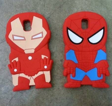 Iron man and spider-man shapes mobile phone case