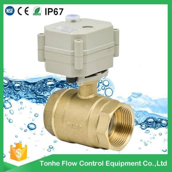 1 1/4 inch DN32 AC/DC 9-36v brass electric valve, motorized ball valve