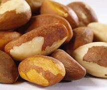 Organic Brazil nuts. almond