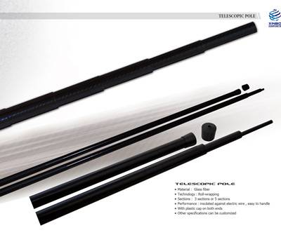 carbon fiber telescopic pole,carbon composite telescopic pole,glass fiber telescopic pole