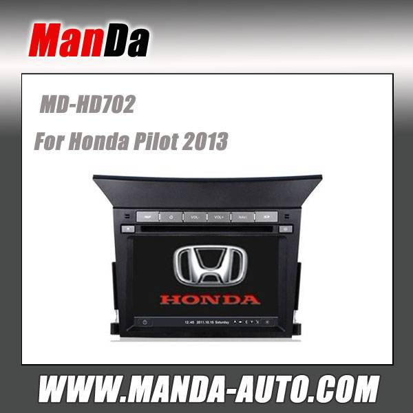 Manda 2 din car dvd for Honda Pilot 2013 car dvd gps navigation in-dash head units multimedia