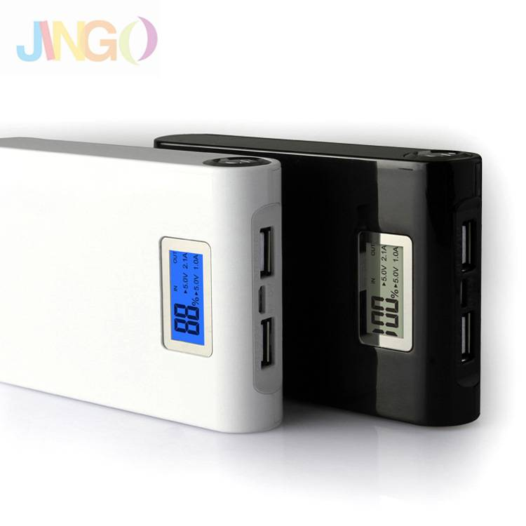 Portable Emergency Backup Power Bank With Dual Output and Viewing ScreenFor Smart Phone and iPhone