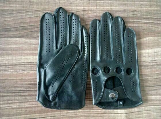 International Men's Basic Driving Gloves (Black, blue Large)