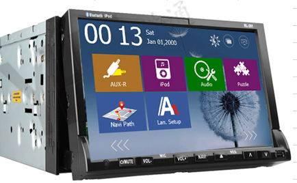 7 Inch 2-Din Universal Car DVD GPS + Bluetooth + iPod + Radio + Remote Control + USB/SD/Aux-Input