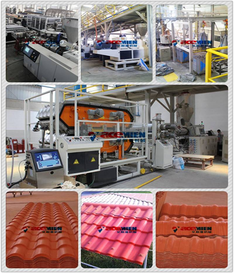 ASA+PVC composite roof tile machine/synthetic resin roof tile
