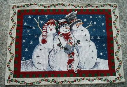 christmas place mat, christmas tapestry placemat, table mat