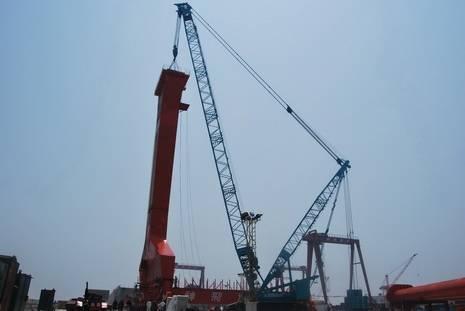Sell Kobelco SL6000 Crawler crane used 550ton crane TE:+8613818259435
