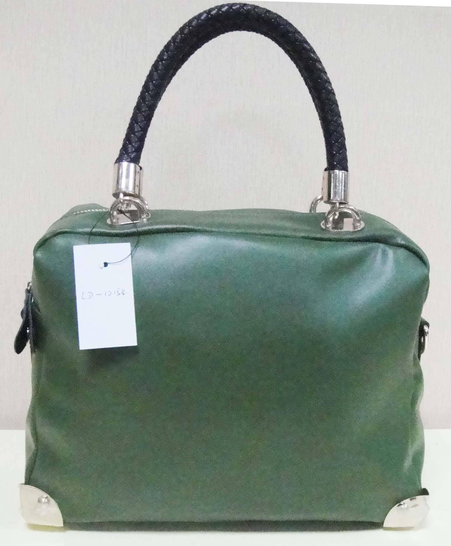popular trendy simple sheepskin leather handbag