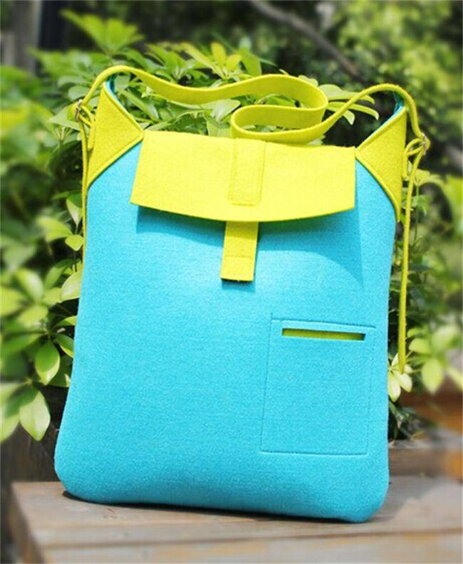 2014 fancy hot sale non-woven felt handbag