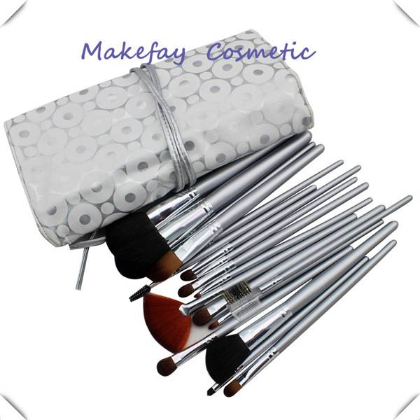 Elegant Synthetic Hair Makeup Brush Sets With PU Pouch