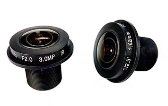 3.0 Megapixel 1.68mm fisheye lens