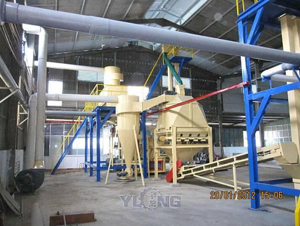palm bark pellet production line,palm pellet mill