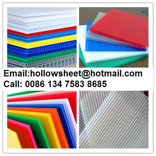 Cheap Correx corrugated plastic sheets for floor and construction protection