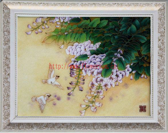 Cloisonne Handicraft Painting Chinese Flower Painting Home Decor Paintings