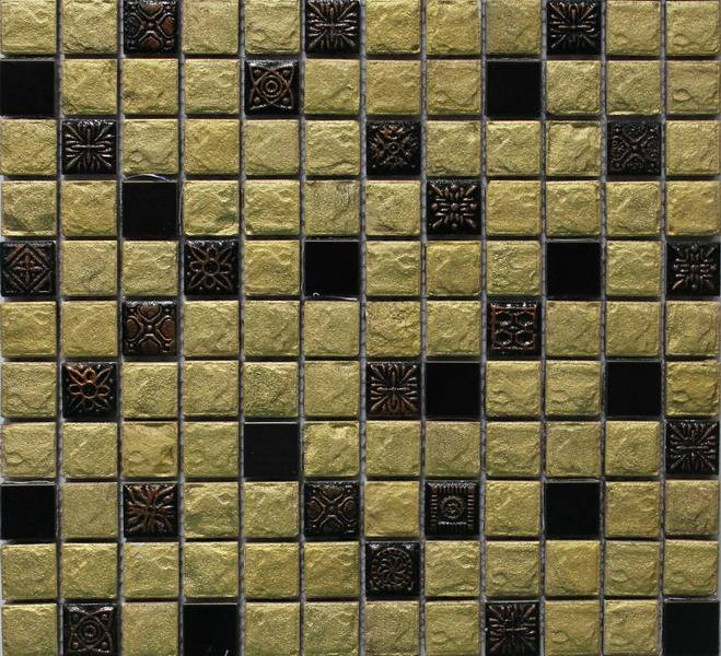 Sell Resin Mixed Stainless Steel Mosaic Tile
